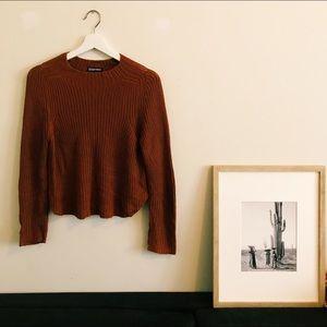 American Apparel rust sweater.
